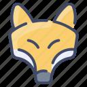 animal, forest, fox, wild, wildlife icon