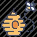 bee, beehive, hive, honey, honeycomb icon