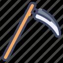 agriculture, farm, farming, garden, scythe, tool icon