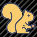 animal, autumn, chipmunk, rodent, squirrel icon