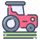 agriculture, farm, field, land, tractor, trasnport, vehicle icon