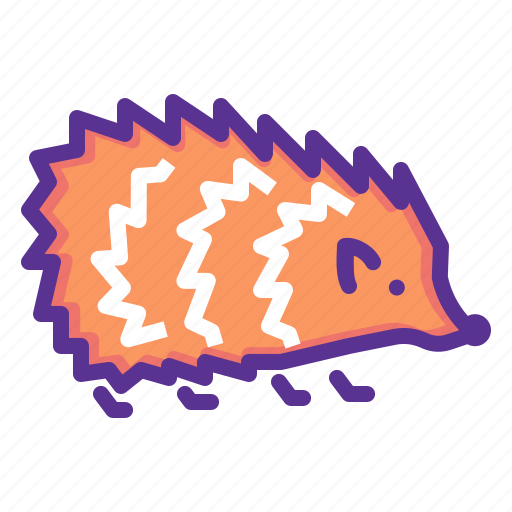 animal, autumn, cute, forest, hedgehog, pet, spikes icon