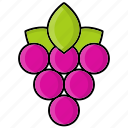 autumn, berry, fruit, grape, leaf, nature icon
