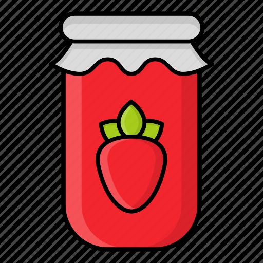 Autumn, fall, jam, jar, jelly, season, strawberry icon - Download on Iconfinder