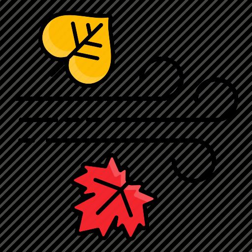 Autumn, fall, rain, rainy, season, wind icon - Download on Iconfinder