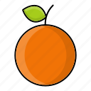 autumn, fruit, nature, orange, season, sweet icon