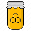 autumn, ecology, honey, jar, nature, season icon