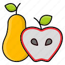 apple, food, fruit, pear, produce, spring icon