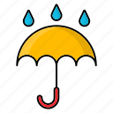 autumn, forecast, freesing, nature, season, umbrella, weather icon