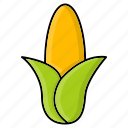 corn, food, grain, maize, staple, sweet icon