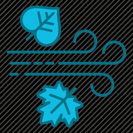 Autumn, fall, nature, rain, rainy, wind icon - Download on Iconfinder