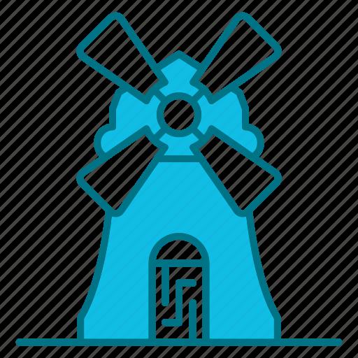 autumn, estate, farm, nature, season, windmill icon