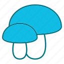autumn, food, mashroom, nature, vegetable icon