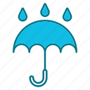 autumn, freesing, nature, season, umbrella, weather icon