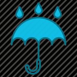 autumn, freesing, nature, season, umbrella, weather icon