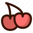 autumn, cherries, fall, food, fruit, healthy, sweet icon