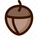 autumn, chesnut, fall, fruit, nut, tree icon
