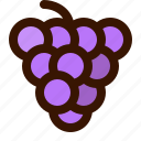 autumn, fall, food, fruit, gastronomy, grapes, healthy icon