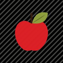 apple, autumn, food, fruit, nature, red, season icon