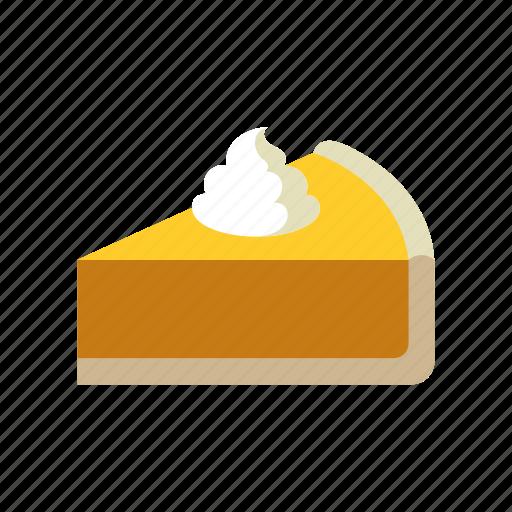 autumn, dessert, food, pie, pumpkin pie, season, thanksgiving icon