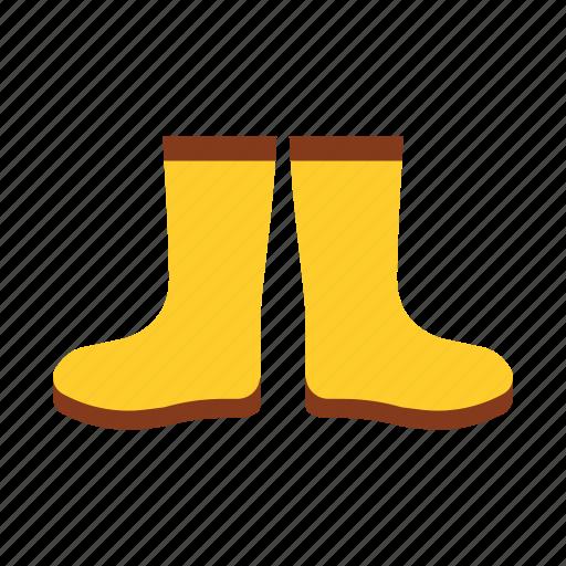 autumn, boots, footwear, protect, rain, season, water icon