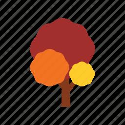 autumn, branch, nature, orange, plant, season, tree icon