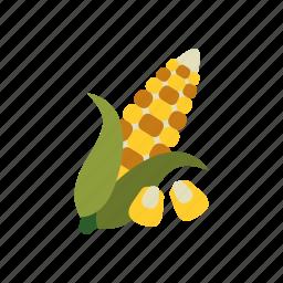 autumn, corn, food, harvest, kernel, season, vegetable icon