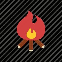 autumn, bonfire, camp, camping, fire, season, warm icon