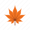 autumn, leaf, leave, maple, nature, orange, season icon
