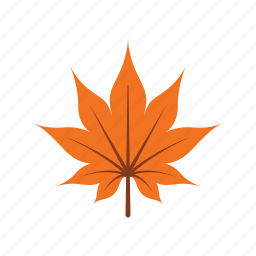autumn, leaf, leave, maple, nature, orange, season icon