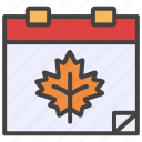 autumn, calendar, date, event, fall, schedule, time icon