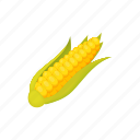 cartoon, corn, food, maize, natural, nutrition, organic icon
