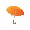 fashion, umbrella, protection, rain, weather, open, cartoon icon