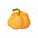 autumn, cartoon, decoration, orange, pumpkin, seasonal, thanksgiving icon
