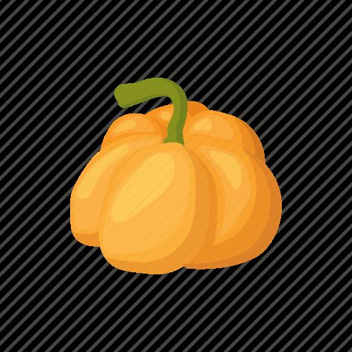 autumn, cartoon, decoration, orange, pumpkin, seasonal, thanksgiving icon