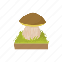 mushroom, nature, food, fungus, healthy, cartoon, ingredient icon