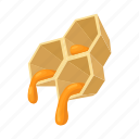 autumn, hive, bee, honey, hexagon, cartoon, honeycomb icon