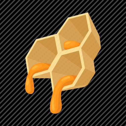 autumn, bee, cartoon, hexagon, hive, honey, honeycomb icon