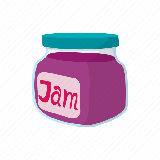 Cartoon, food, fruit, jam, jar, jelly, sweet icon - Download on Iconfinder