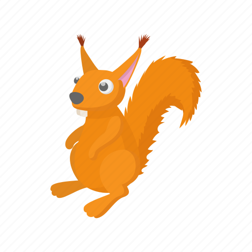 animal, cartoon, mammal, rodent, squirrel, tail, wildlife icon