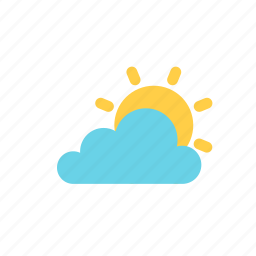 autumn, cloud, sun icon