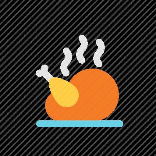 autumn, food, meat, turkey icon
