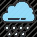 autumn, cloud, cloudy, rain icon