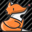 animal, avatar, fox, nature, user, wild icon