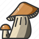 food, healthy, mushroom, restaurant, vegetable, vegetarian icon