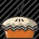 apple, food, pie, restaurant icon
