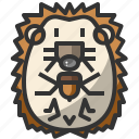 animal, avatar, hedgehog, pet, puppy, wild, zoo icon