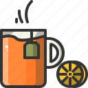 beverage, cup, drink, hot, lemon, mug, tea icon