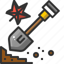 construction, job, maple, shovel, tool, work icon