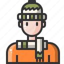 avatar, clothes, clothing, fashion, man, user, warm icon